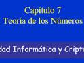 Teoria de los numeros P7