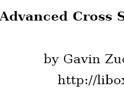 Advanced Cross Site Sc...