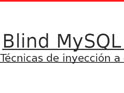 Blind MySQL Injection