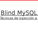 Blind MySQL Injection