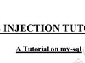 SQL INJECTION TUTORIAL